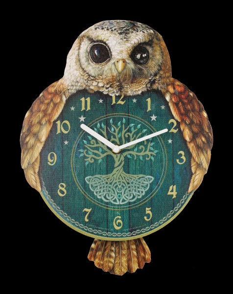 Wall Clock with Owl - Hootin Tickin