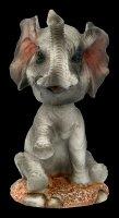 Wackelkopf Figur - Elefant Elly