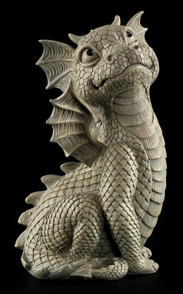 Garden Figurine - Dragon Look Up