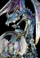 Dragon Figure with Snowglobe - Azul Oracle