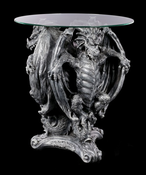 Dragon Table with Glass Plate - Three From Hell