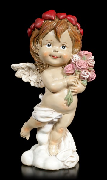 Cherub Figurine - Little Angel with Bouquet