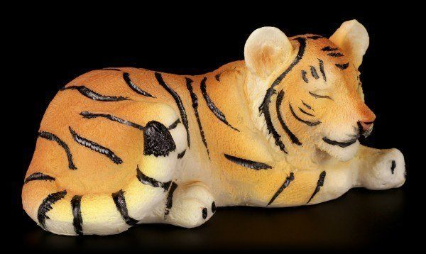 Tiger Baby Figure - Sleeping on the Floor