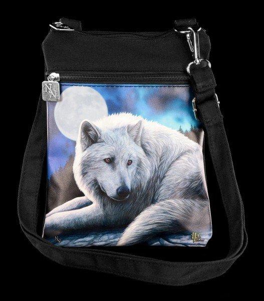 Kleine Schultertasche mit Wolf - Guardian of the North