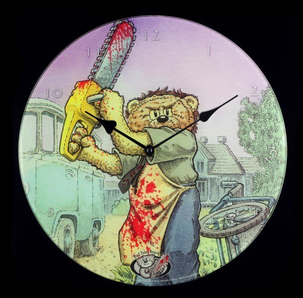 Glas Wanduhr - Bad Taste Bears - Stitch
