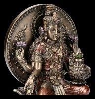 Hindu Göttin Figur - Lakshmi bronziert