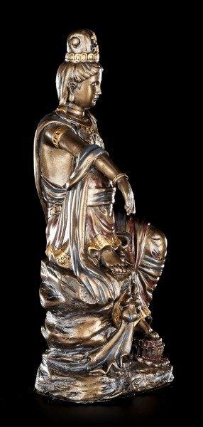 Buddha Figur Guan Yin - bronzefarben