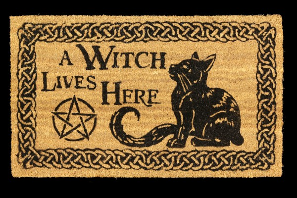 Fantasy Doormat - A Witch Lives Here