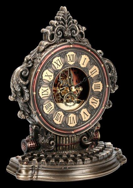 Steampunk Tischuhr - Schreibmaschine