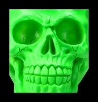 Totenkopf Neon - Psychedelisches Grün