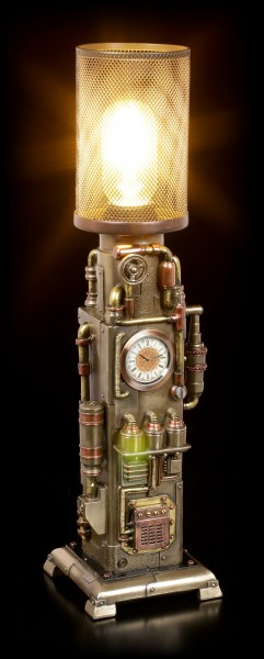 Steampunk Lamp with Clock