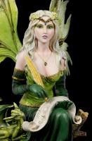 Elfen Figur - Prinzessin Gaia mit Drache