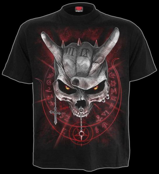 Never Too Loud - Spiral Skull T-Shirt