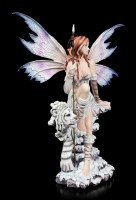 Große Elfen Figur - Shaia mit Speer und Tiger