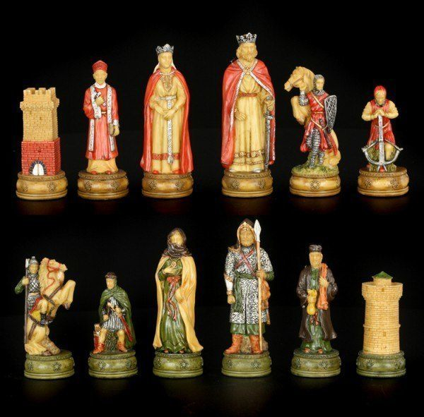 Chessmen Set - Knights vs Arabs