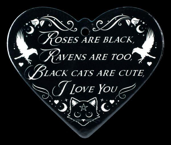 Topfuntersetzer Herz - Poes Raven