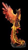 Phoenix Figurine rises from Flames