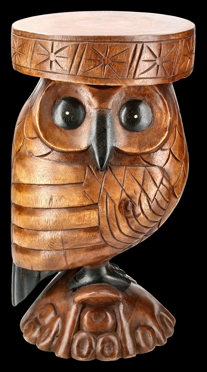 Side Table or Stool - Owl mad of Acacia Wood