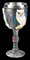 Kelch mit weißer Eule - Wise Companion