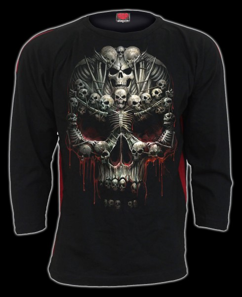 Langarmshirt Gothic Totenkopf - Death Bones
