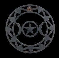 Wandrelief - Dreifach-Mond Holz schwarz