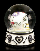 Snow Globe - Day of the Dead Skull - black