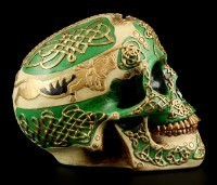 Totenkopf Spardose - keltisch