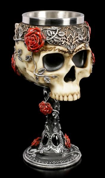 Skull Goblet - Gothic Roses