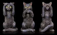 Three wise Cats Figurines - No Evil