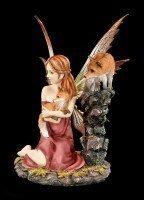 Elfen Figur - Mandara mit zwei Füchsen