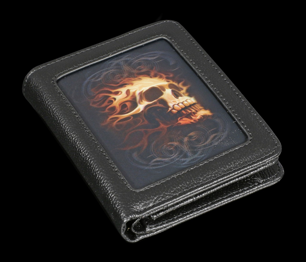 Wallet with 3D Picture - Fire Skull
