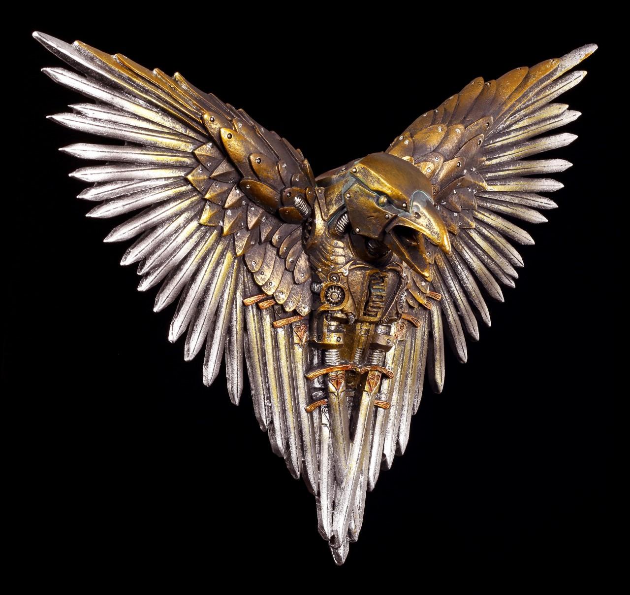 Wandrelief Steampunk Rabe - Blade Raven