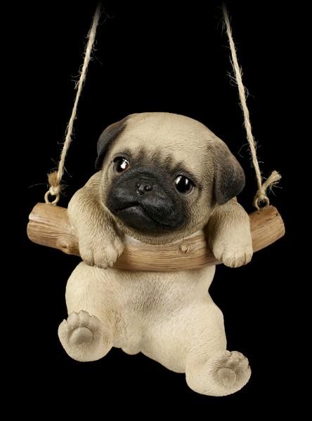Hanging Dog Figurine - Pug Puppy