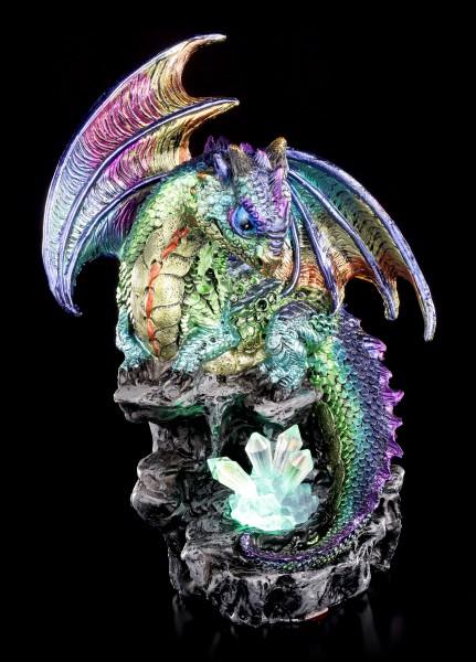 Drachen Figur mit LED - Aqurion mit Kristallen