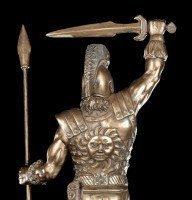 Achilles Figur mit Schwert und Speer
