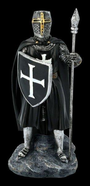 Tempelritter Figur mit Speer und Schild
