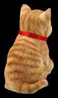 Tabby Lucky Cat Figurine - Maneki Neko