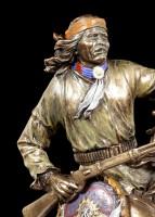 Indianer Figur - Apache auf Pferd
