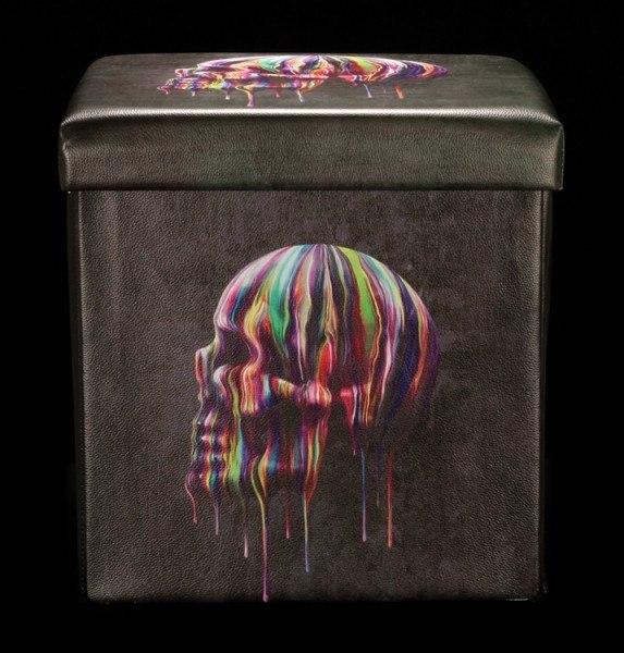 Aufbewahrungsbox mit Sitzmöglichkeit - Dripping Skull