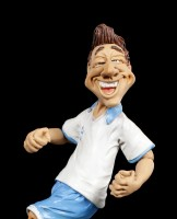 Funny Sports Figurine - Footballer in white Jersey
