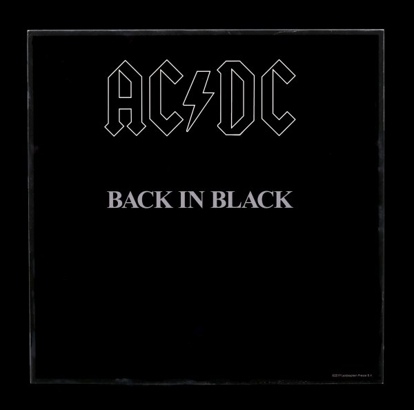 AC/DC Hochglanz Bild - Back in Black