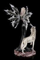 Fairy Figurine - Dark Aura with Wolf