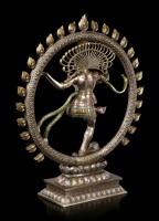 Große Shiva Figur als Nataraja - im Flammenkreis