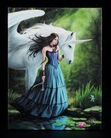 Small Canvas - Enchanted Pool by Anne Stokes