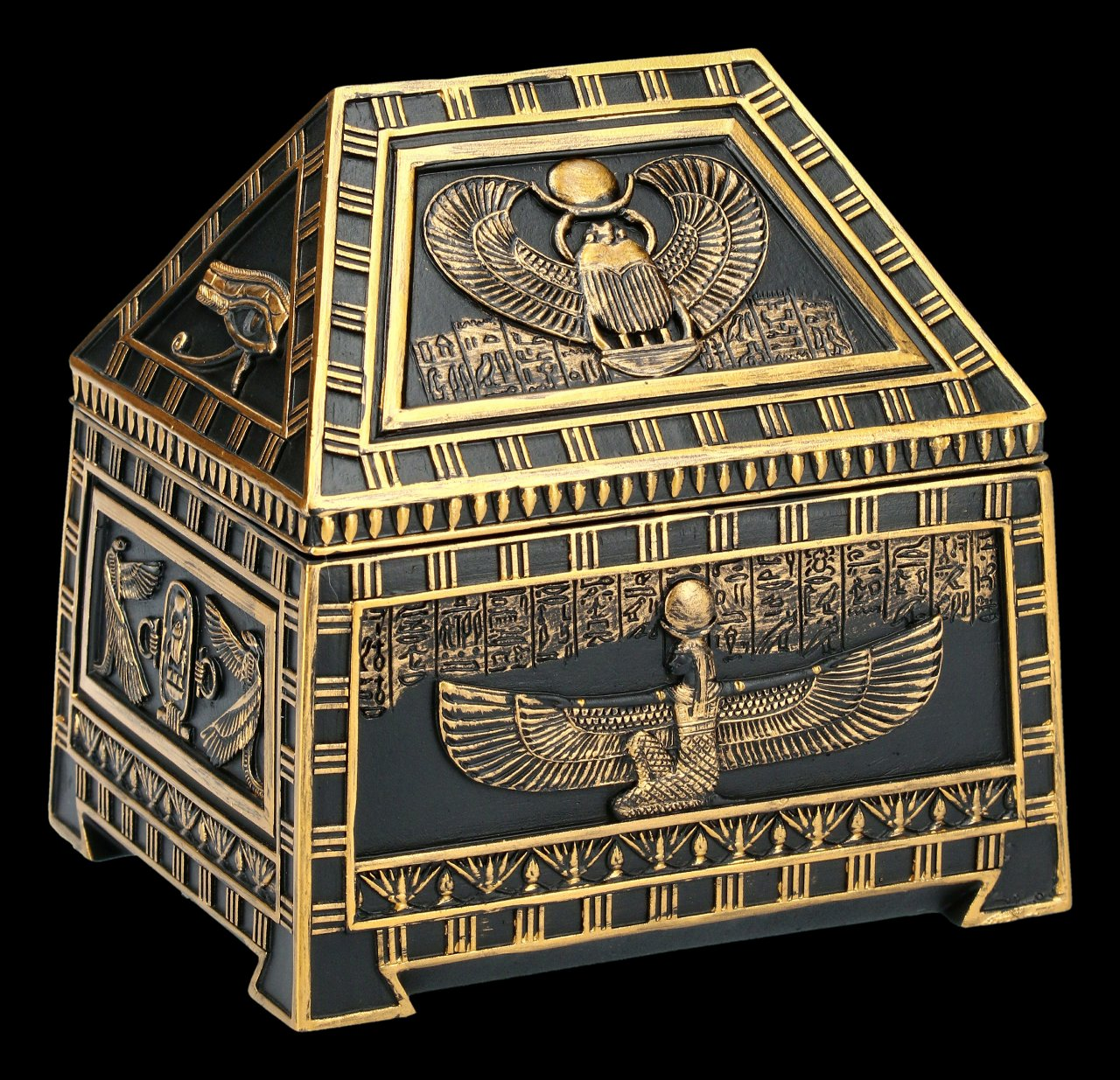 Ägyptische Schatulle - Skarabäus und Isis