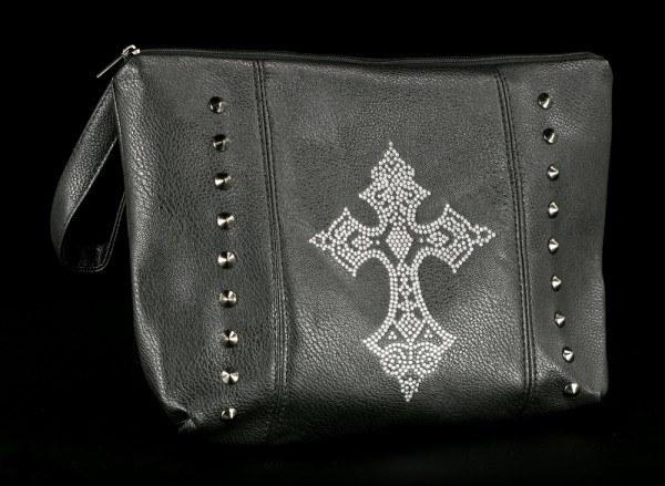 Kulturtasche - Diamantenes Kreuz mit Griff