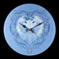 Glass Wall Clock - Unicorn Heart