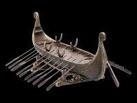 Historisches Wikinger Schiff als Dekofigur
