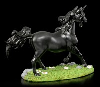 Black Unicorn Figurine on Meadow