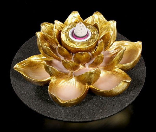 Backflow Incense Cone Holder - Lotus of Peace